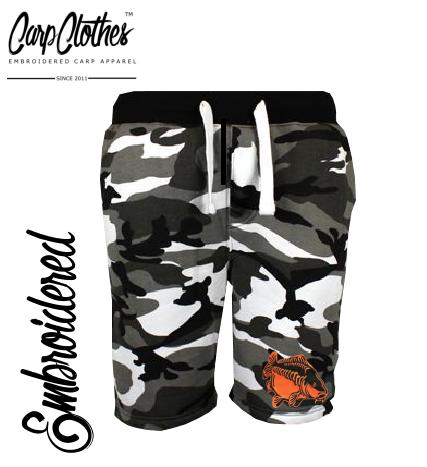 009 EMBROIDERED URBAN CAMO SHORTS **£6 OFF**