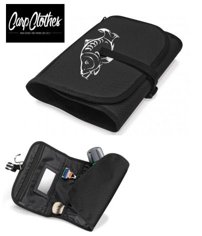 001 CARP PRINTED BLACK WASHBAG