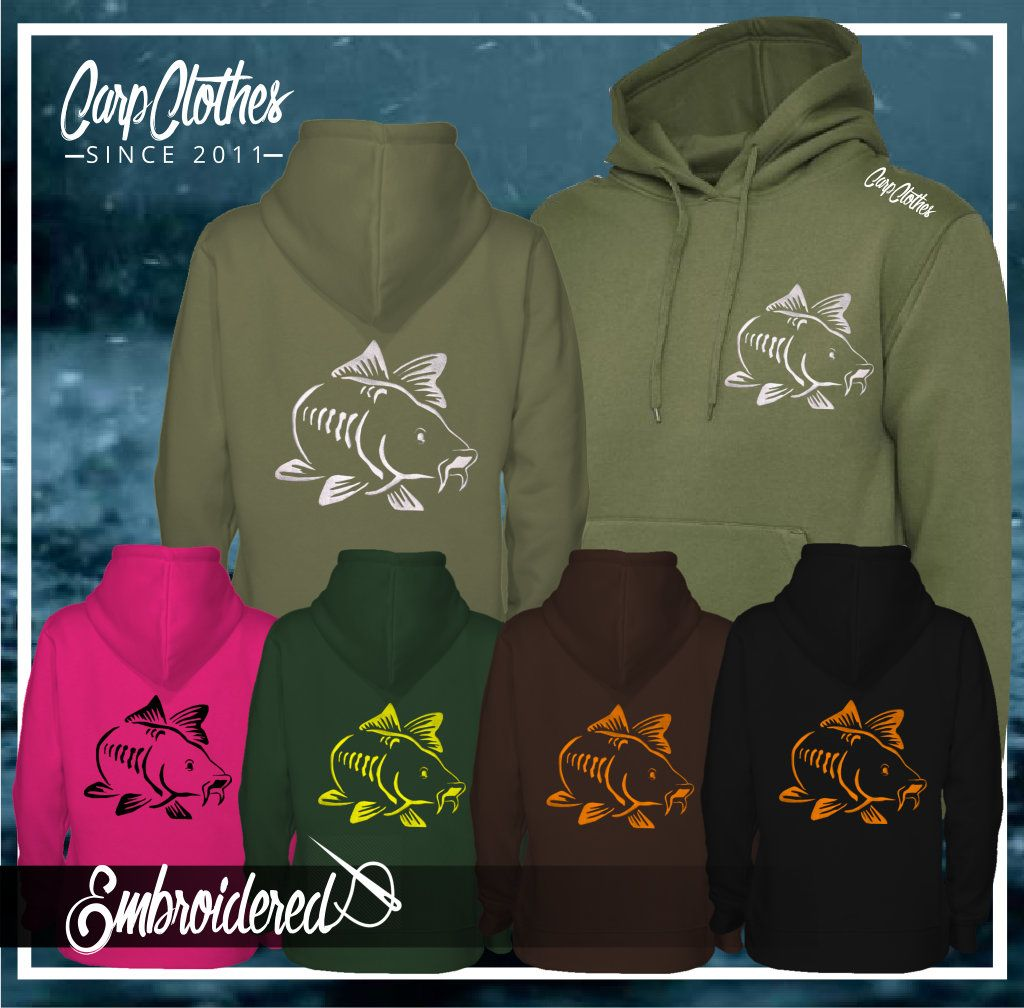 003 EMBROIDERED CARP  HOODIE