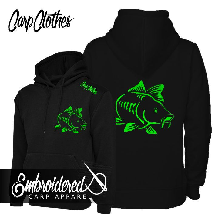 003 NEON EMBROIDERED CARP  HOODIE