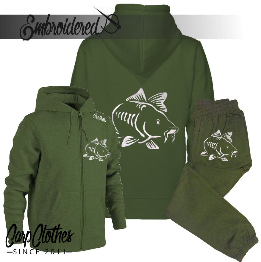 003 ZIPPED HOOD EMBROIDERED PACKAGE DEAL MILITARY GREEN