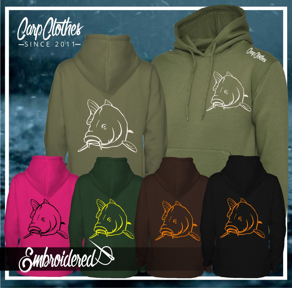 004 EMBROIDERED CARP HOODIE