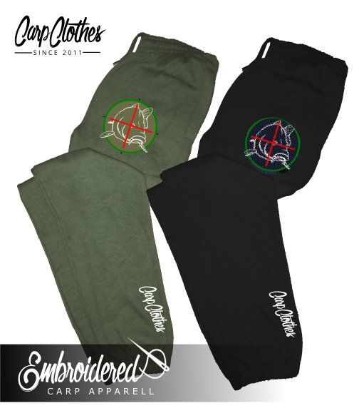 006 EMBROIDERED CARP JOGGERS