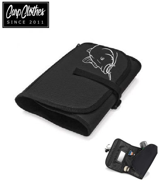 008 CARP PRINTED BLACK WASHBAG