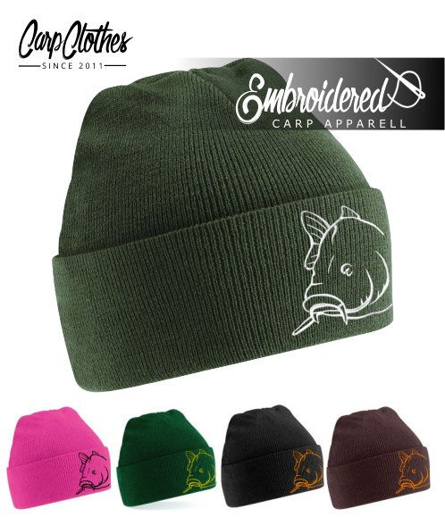 008 EMBROIDERED CARP BEANIE