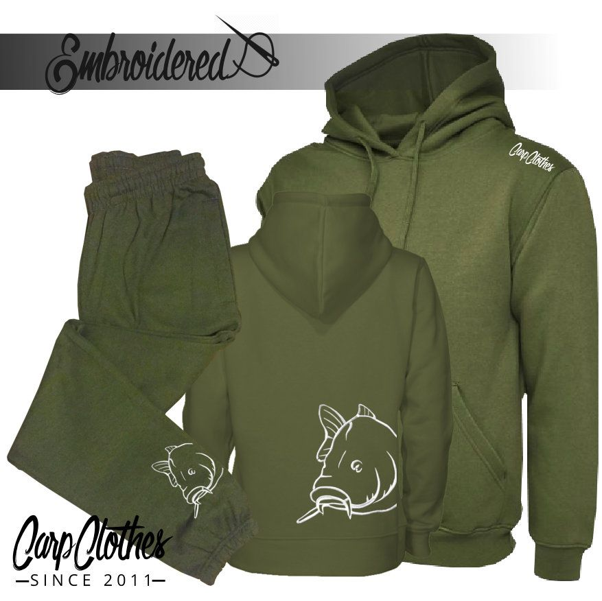 008 EMBROIDERED CARP PACKAGE DEAL MILITARY GREEN