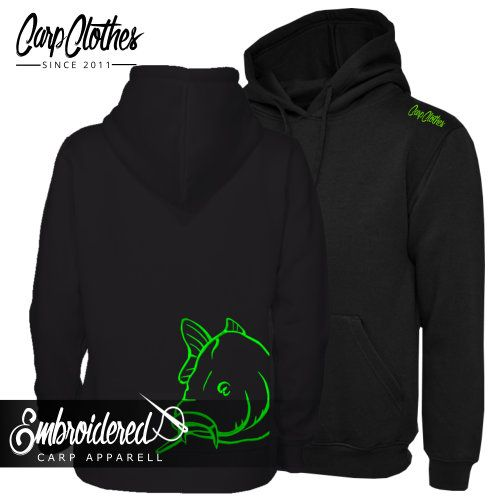 008 NEON EMBROIDERED CARP  HOODIE