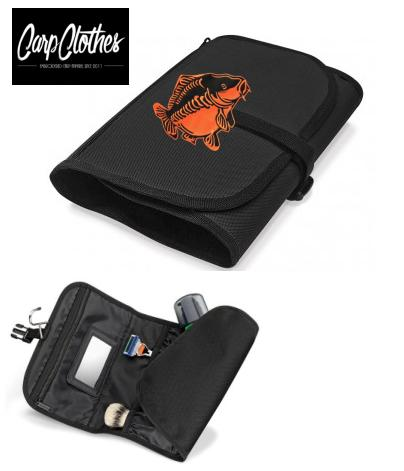 009 CARP PRINTED BLACK WASHBAG