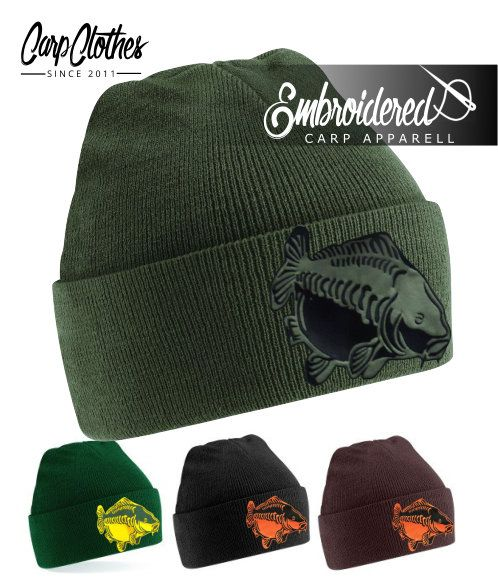 009 EMBROIDERED CARP BEANIE