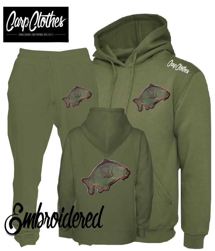 013 EMBROIDERED CARP PACKAGE DEAL MILITARY GREEN