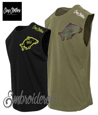 013 EMBROIDERED SLEEVELESS T-SHIRT