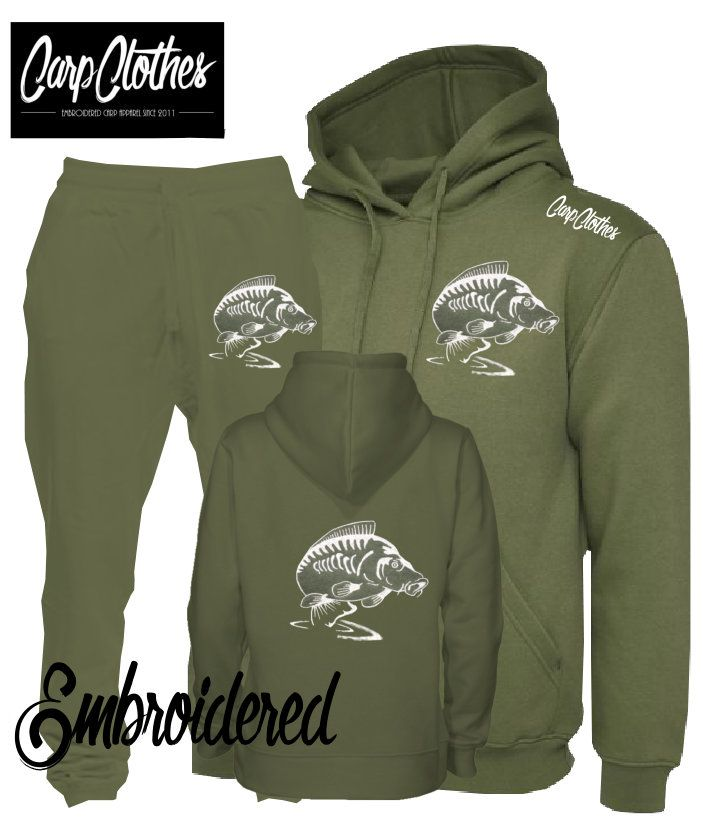 014 EMBROIDERED CARP PACKAGE DEAL MILITARY GREEN