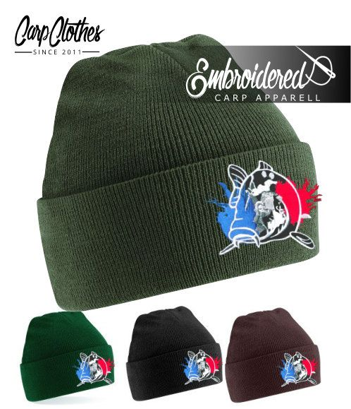 018 EMBROIDERED CARP BEANIE