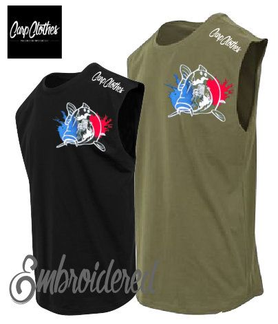 018 EMBROIDERED SLEEVELESS T-SHIRT