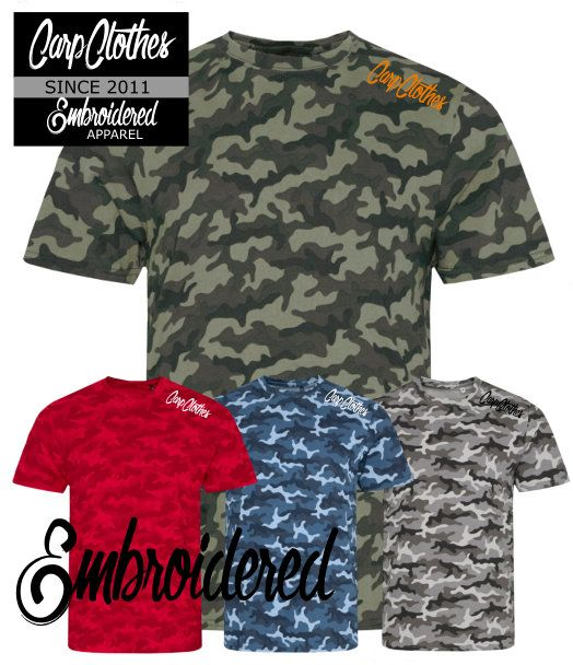 020 EMBROIDERED  CAMO T-SHIRT