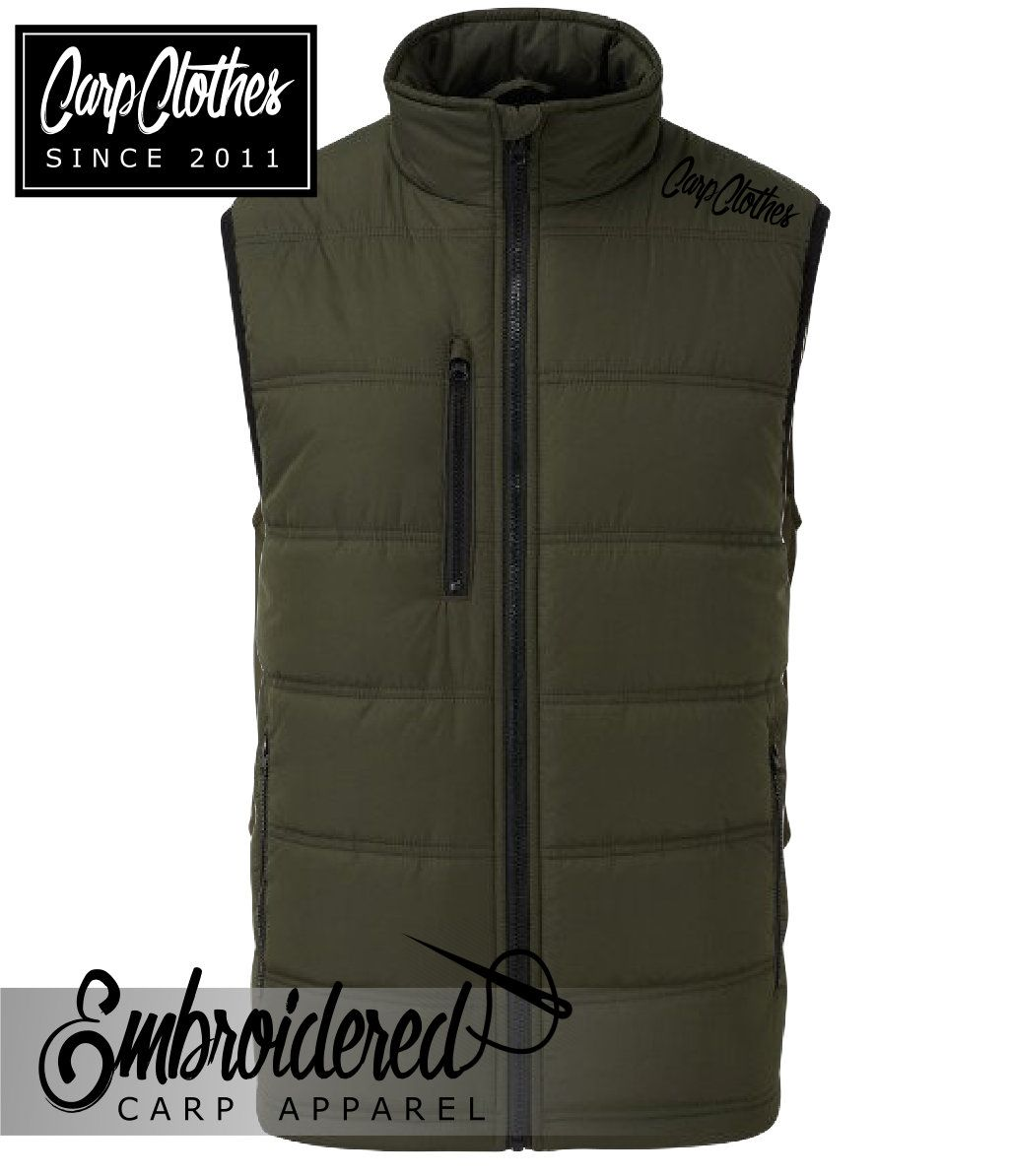 020 OLIVE PADDED BODY WARMER