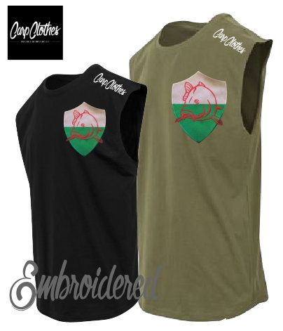 022 EMBROIDERED SLEEVELESS T-SHIRT