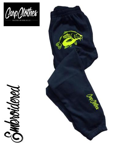 023 EMBROIDERED CARP FISHING JOGGERS BLACK