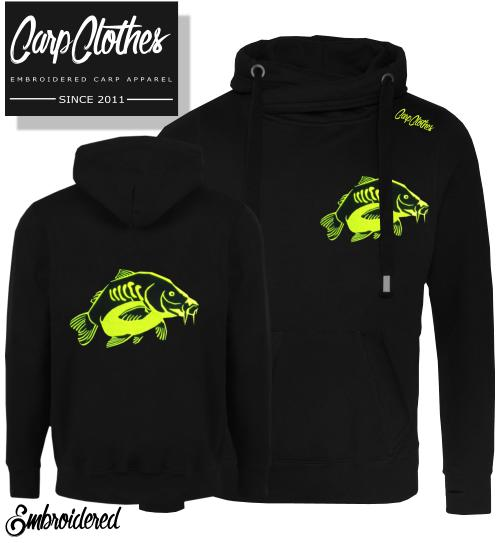 023 EMBROIDERED CARP FISHING SNOODIE BLACK