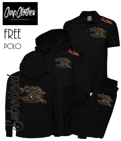 025 EMBROIDERED PIKE PACKAGE BLACK  **FREE POLO SHIRT**