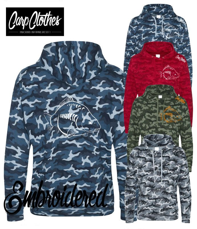 026 EMBROIDERED CARP FISHING HOODIE CAMO