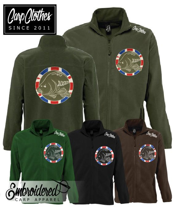 030 CARP CLOTHES EMBROIDERED FLEECE JACKET