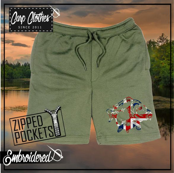 034 EMBROIDERED OLIVE SHORTS