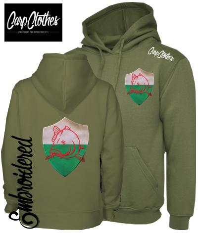 CLR022 EMBROIDERED HOODIE OLIVE